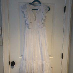Ulla Johnson white eyelet long dress size 4 NWT